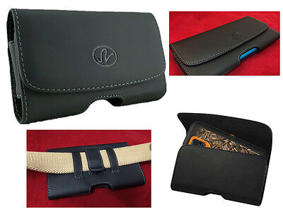 Leather Belt Case Clip Holster Pouch Sleeve Holder For Apple/Samsung/LG/HTC