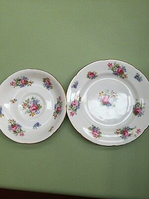 Royal Grafton Side Plate and Saucer Made England Floral