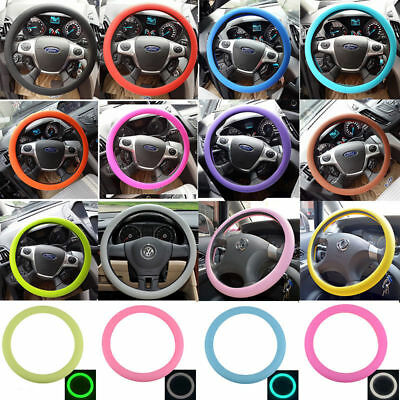 New Skidproof Odourless Silicone Eco Rubber Car Auto Steering Wheel Cover Sports