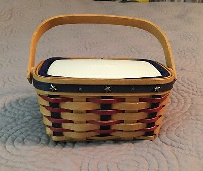 Longaberger 2004 Proudly American Retired Tea Basket Combo