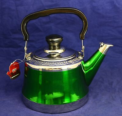 New 1L Green Stainless Steel Tea Pot 21693