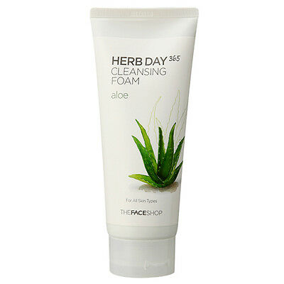 THE FACE SHOP - Face Herb Day 365 Cleansing Foam (Aloe) 170ml Korean Cosmetic