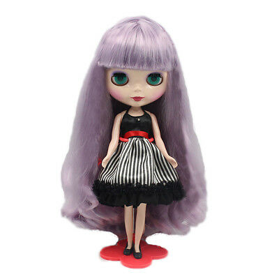 "For 12"" Neo Blythe doll Takara doll Purple Double Braid Long Wig~wig with scalp"