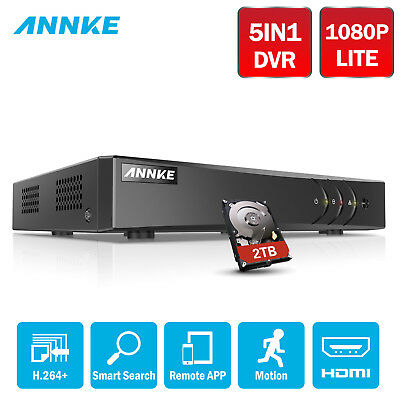 ANNKE 8CH 1080N 5IN1 DVR Video H.264 2TB HDD P2P HDMI for Security System DN81R