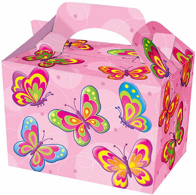 10 Butterfly Party Boxes - Food Loot Lunch Cardboard Gift Kids