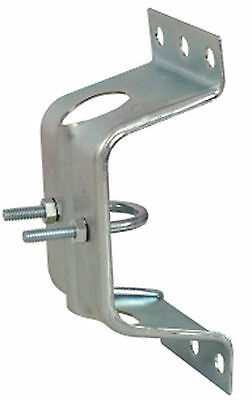 "Large Wall Fascia Bracket UClamp Fixing Mount for 1"" Pole"