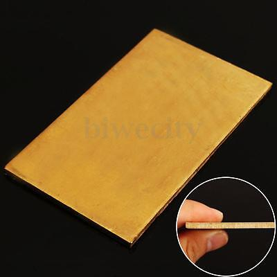 Golden Brass Metal Thin Sheet Plate Welding 60 x 100 x 3mm Metalworking Craft
