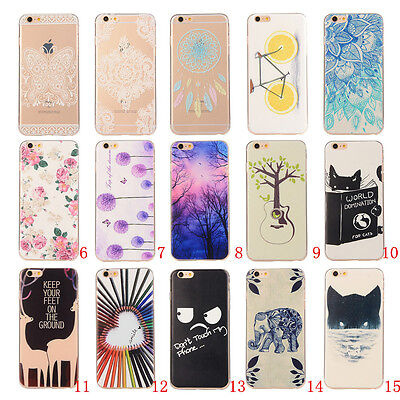 New Rubber Soft TPU Silicone Phone Case Cover For Apple iPhone 6 4.7 Plus 5.5 6S