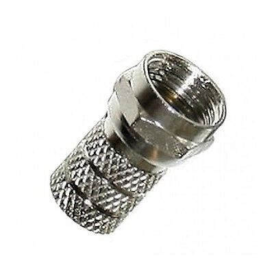 6 x Screw/ Twist on Twin  Shotgun F Connectors To Fit Satellite TV Coaxial Cable
