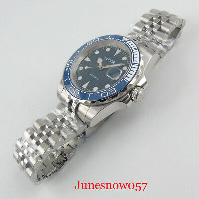 PARNIS 44mm Royal Blue Dial 17 jewels 6497 Hand-Winding Men's Wristwatch