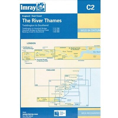 CARTE MARINE IMRAY C2 THE RIVER THAMES alciumpeche