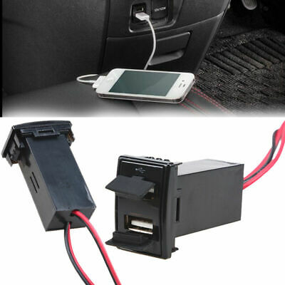 Car Dashboard Dual USB Port Phone Charger 2.1A for Mazda/Toyota/Honda/Nissan etc