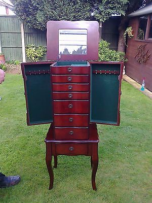 Jewellery Armoire Cabinet/Chest/Box/Ring,Necklace,Bracelet/Storage case/Mirror