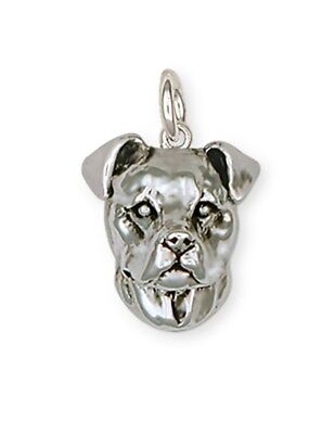 Pit Bull Charm Jewelry Sterling Silver  PAS4-C