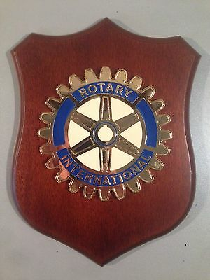 Crest in legno ROTARY INTERNATIONAL crest of wood club