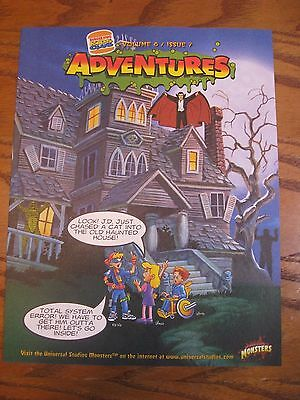 Burger King -Universal Monsters - Adventures Leaflet - Vol. 8 Issue 7 - 1997