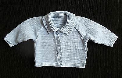 Baby clothes BOY 3-6m NEW M&S blue collar cardigan cotton COMBINE POST SEE SHOP