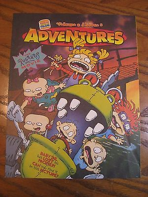Burger King - Rugrats The Movie - Adventures Leaflet -  Vol. 9 Issue 8 - 1998