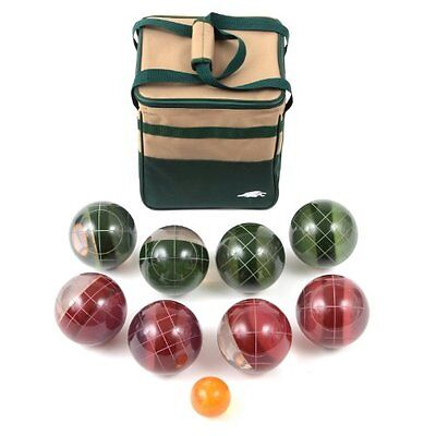 Lion Sports Clear 107 MM Tournament Resin Bocce Set in PVC Carry Bag - NEW
