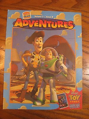 Burger King - Disney Toy Story - Adventures Leaflet - Vol. 7 Issue 8 - 1996