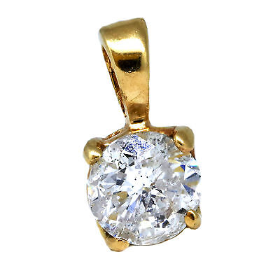 .40ct Charm Pendant Solitaire Diamond Round Cut 14k yellow gold