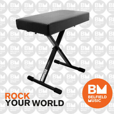 Onstage KT7800PLUS Keyboard Piano Adjustable Deluxe Bench Stool X Style KT7800