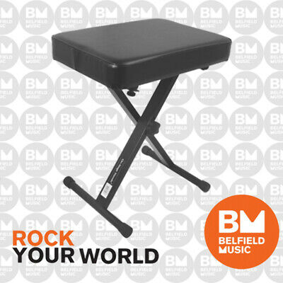 Onstage KT7800 Keyboard Piano Adjustable Bench Stool X-Style KT-7800 On-Stage