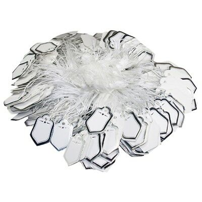 SG - 500 Pcs Silver Price Tag Retail Label Tie String Jewelry Watch Display US
