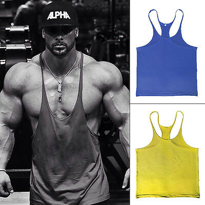 ZYZZ Men Gym Singlet Stringer  Muscle Tank Tops Fitness Sport Shirt Y BACK Racer