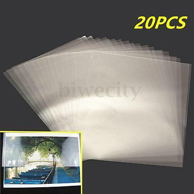 20Pcs Transparent A4 Double Sided Acrylic Adhesive Tape Sheet Clear DIY Craft