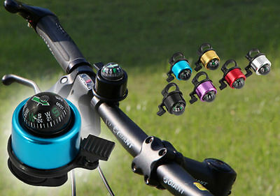 HOT Multicolour Compass Metal Ring Handlebar Bell Sound for Bike Bicycle New