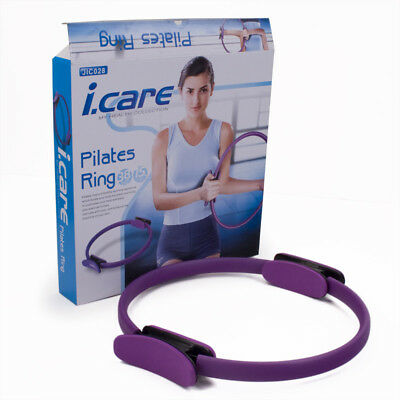 Pilate Ring Magic Circle Yoga Fitness Workout Muscles Exercise Equipment Purple