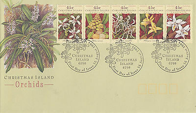 Christmas Island 1994 Orchids FDC