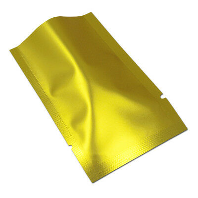 Matte Gold Aluminum Mylar Foil Heat Seal Bags Food Safe Packaging Vacuum Pouches