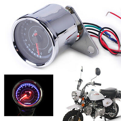 Universal 60mm LED 13000 RPM Speedometer Tachometer Scooter Odometer Motorcycle