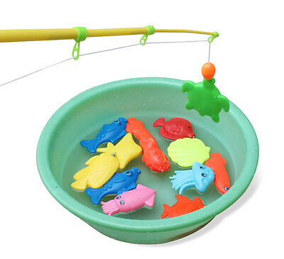 Magnetic Fishing Game Toy Rod Fish Hook Catch Kids Childern Bath Time Gift