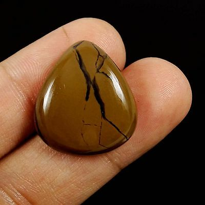 22.75CTS Magnificent Brown COFFEE JASPER Pear Cabochon Beautiful Fancy Edelstein