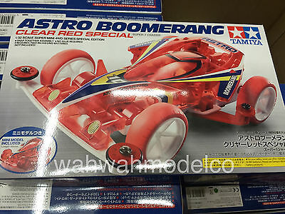 TAMIYA 95274 Astro Boomerang Clear Red Super-1 1/32 Mini 4WD Chassis Limited