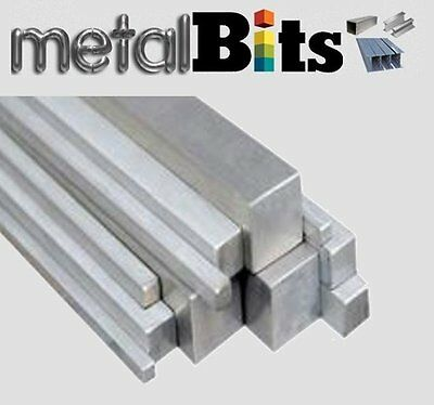 8-25mm Square Bar Stainless Steel 304 Grade (sizes 500mm - 3000mm available)