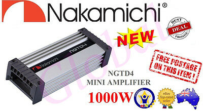 Nakamichi NGTD4 1000W Peak, D Class, 2/3/4 Channel Mini Car AMP Amplifier