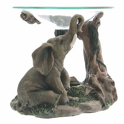 Elephant Oil Burner 11cm High Tea Light Holder