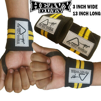 Weight Lifting Bodybuilding Gym Training Wrist Support Straps Wraps