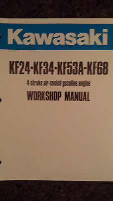 Kawasaki Kf24 Kf34 Kf53A Kf68 Air Cooled 4-Stroke Engine Work Shop Manual Nice!