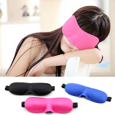 3D Soft Sponge Sleeping Sleep Aid Eye Mask Blindfold Shade Travel Plane Blackout