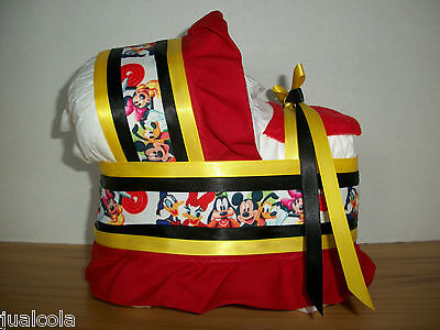 Mickey Mouse Characters Boy Girl Neutral Diaper Bassinet Baby Shower Centerpiece