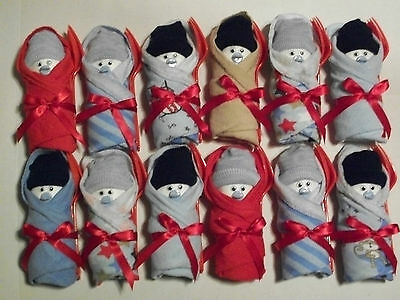Red Blue Brown Monkey Boy  Little Swaddlers Dirty Diaper Game Baby Shower Favors