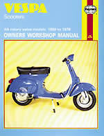 Vespa Scooter 90 Super Sprint Rally 59-78 Haynes Manual