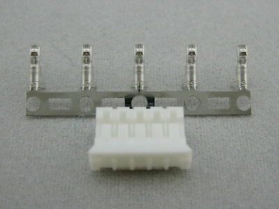 5 sets JST PHR-5 HOUSING (5 ways, 2.0 mm) with crimp contact SPH-002T-P0.5S