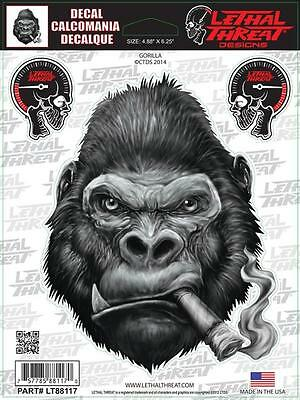 LETHAL THREAT Motorcycle Bike Board Computer PC Decal Sticker GORILLA LT88117