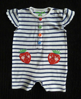 Baby clothes GIRL 0-3m NEXT dark blue/white stripe fun red berries SEE SHOP!